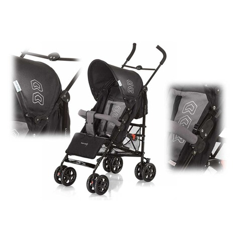 KNORR-BABY  Commo Buggy mit Liegefunktion  black/grey 2