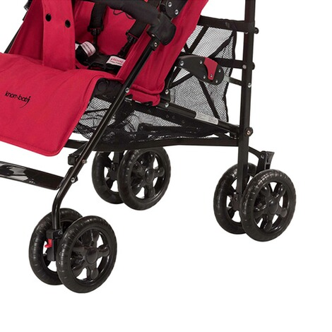 KNORR-BABY  Commo Buggy mit Liegefunktion  red/black 3