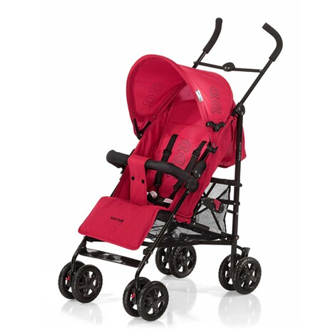 KNORR-BABY  Commo Buggy mit Liegefunktion  red/black 1