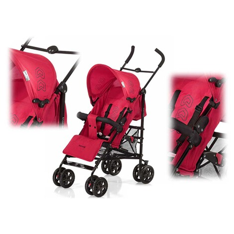 KNORR-BABY  Commo Buggy mit Liegefunktion  red/black 2