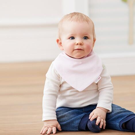 Halstuch f/ür Baby mit verstellbarem Druckknopfverschluss aus reiner Baumwolle Bornino Mouse /& Elephant Wende-Dreieckstuch Ringel
