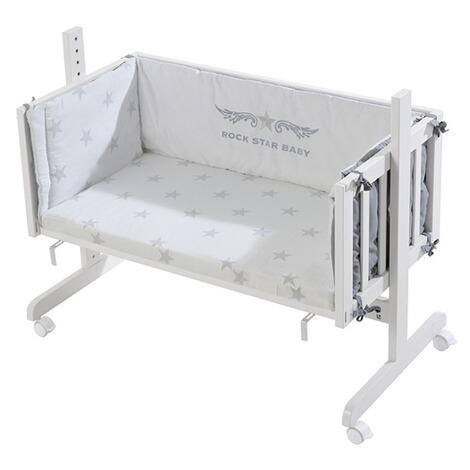 roba beistellbett mit ausstattung rock star baby 45x90 cm online kaufen baby walz. Black Bedroom Furniture Sets. Home Design Ideas
