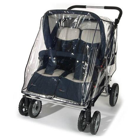 Zwillingskinderwagen nebeneinander  REER Universal Regenschutz für Zwillingskinderwagen online kaufen ...