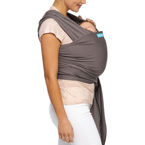 MOBY  Classic Wrap Babytragetuch, 550cm  slate/black 2
