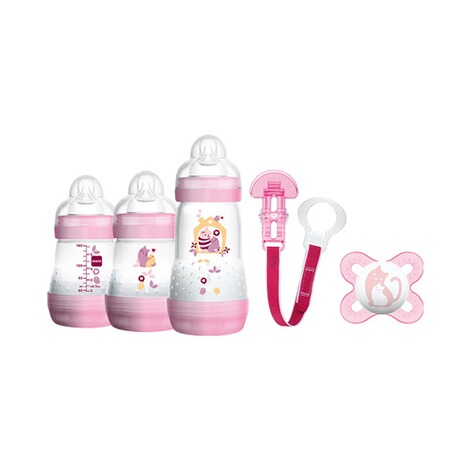 MAM  5-tlg. Starter-Set Welcome to the world 160-260ml, Kunststoff  rosa 1
