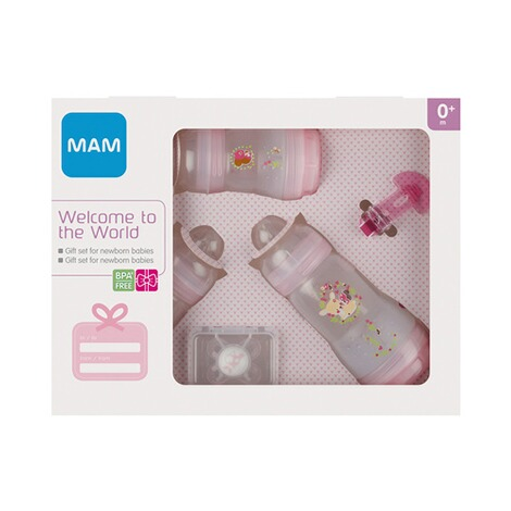 MAM  5-tlg. Starter-Set Welcome to the world 160-260ml, Kunststoff  rosa 2