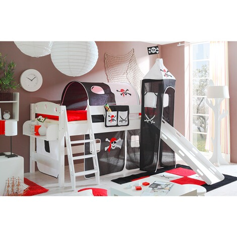ticaa hochbett mit rutsche kenny pirat online kaufen baby walz. Black Bedroom Furniture Sets. Home Design Ideas