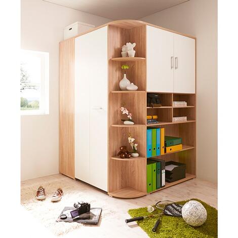 TICAA Kleiderschrank Corner Begehbar 2-türig online kaufen | baby-walz