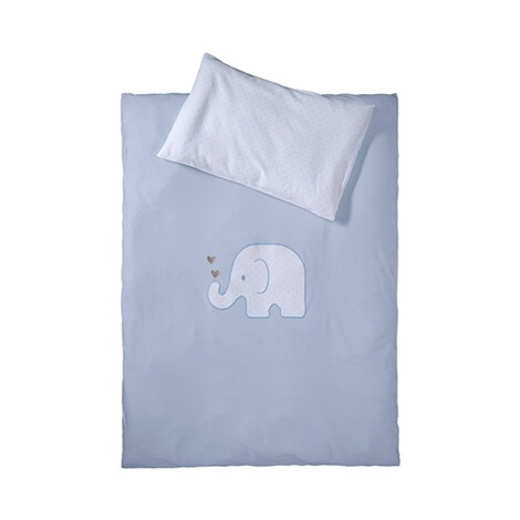 BORNINO HOME  Jersey-Bettwäsche Elefant 40x60 / 100x135 cm 1