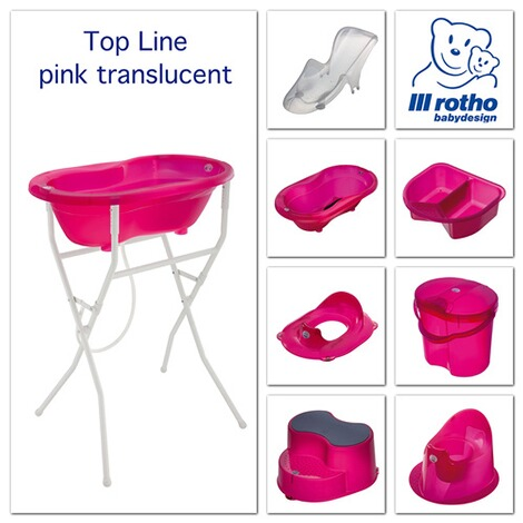 ROTHO BABYDESIGN  Toilettensitz TOP Translucent  pink 2