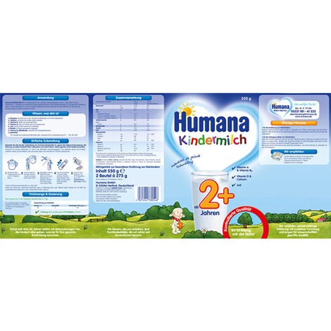 HUMANA  Kindermilch 2+ 550g 2