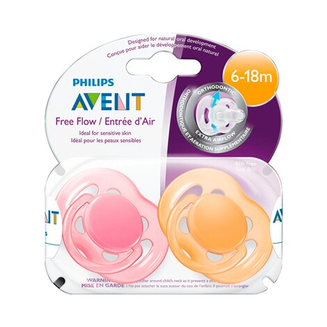 PHILIPS AVENT  2er-Pack Schnuller, SCF178/28, Freeflow, 6-18M 3
