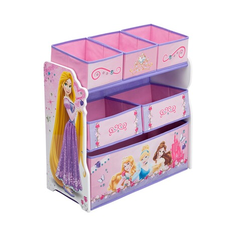 delta children disney princess aufbewahrungsregal mit 6 boxen online kaufen baby walz. Black Bedroom Furniture Sets. Home Design Ideas