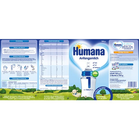 Humana  Anfangsmilch 1 700g 2
