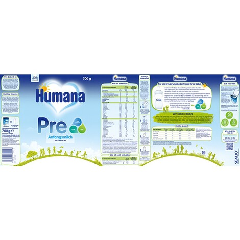 HUMANA  Anfangsmilch PRE 700g 2