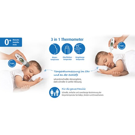 reer  3-in-1 Fieberthermometer Skin Temp 5