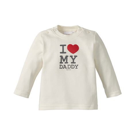 BORNINO BASICS Shirt langarm Love  wollweiß Daddy 1