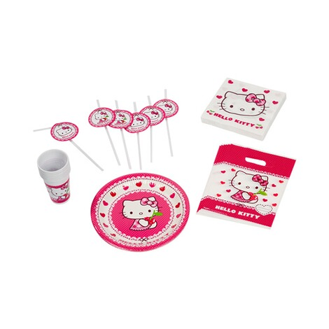 48-tlg. Partyset Hello Kitty, 6 Personen 1