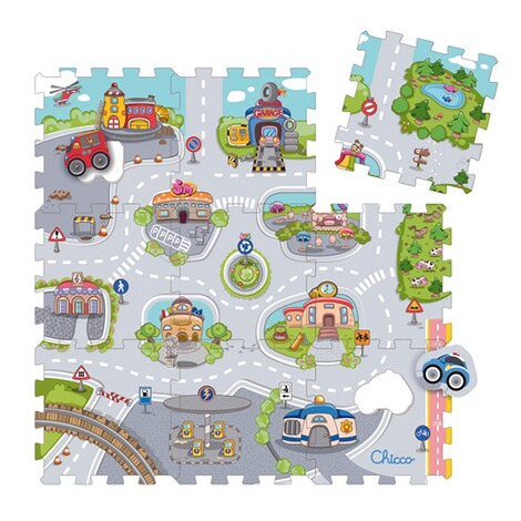 Chicco9tlg. Puzzlematte City 1