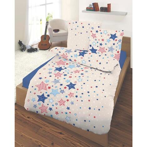 ido feinbiber bettw sche sternchen 40x60 100x135 cm. Black Bedroom Furniture Sets. Home Design Ideas