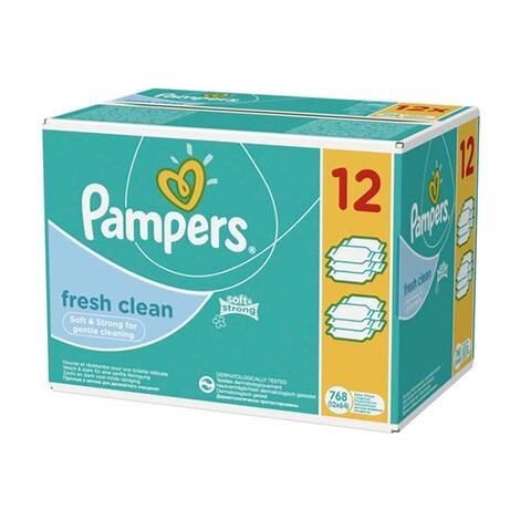 pampers 12er pack feuchtt cher fresh clean 768 st ck. Black Bedroom Furniture Sets. Home Design Ideas