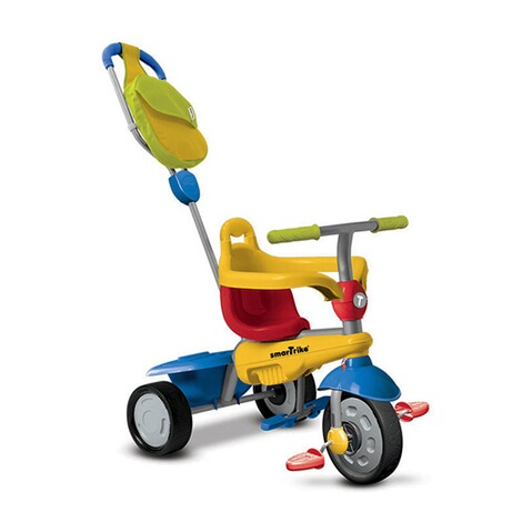 smarTrike  Dreirad Breeze GL Touch Steering® 3-in-1  blau/gelb/rot 1