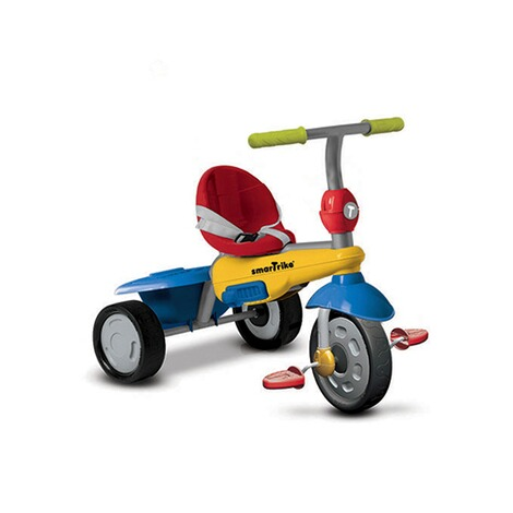 smarTrike  Dreirad Breeze GL Touch Steering® 3-in-1  blau/gelb/rot 3