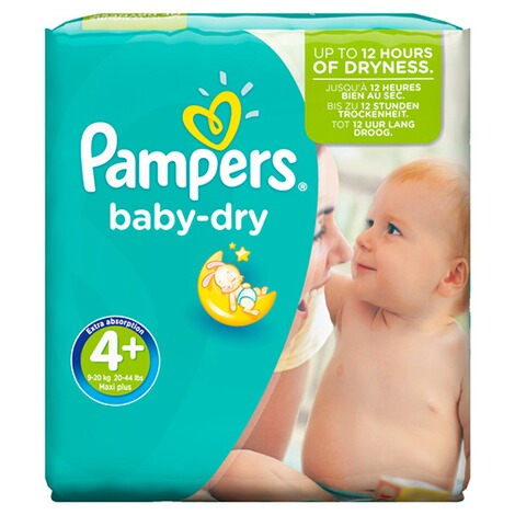PAMPERS  Baby Dry Windeln Gr. 4+ 9-18 kg Monatsbox 152 St. 2