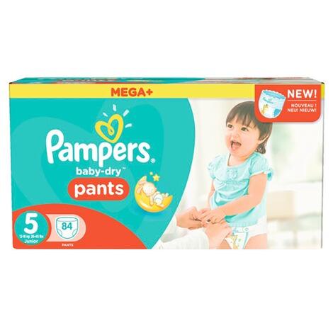 pampers baby dry pants windelh schen gr 5 12 18 kg mega. Black Bedroom Furniture Sets. Home Design Ideas