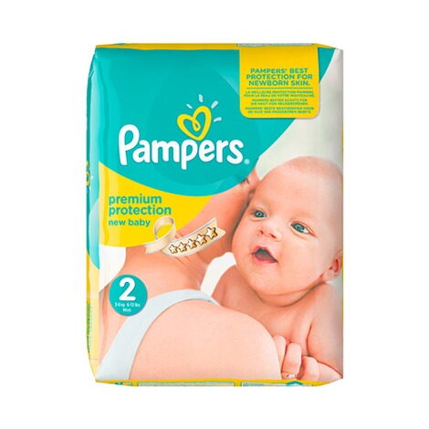 pampers premium protection windeln gr 2 3 6 kg monatsbox. Black Bedroom Furniture Sets. Home Design Ideas