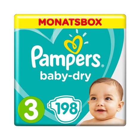 Pampers  Baby Dry Windeln Gr. 3 6-10 kg Monatsbox 198 St. 1