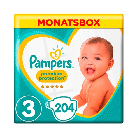 PAMPERS  Premium Protection Windeln Gr. 3 6-10 kg Monatsbox 204 St. 1