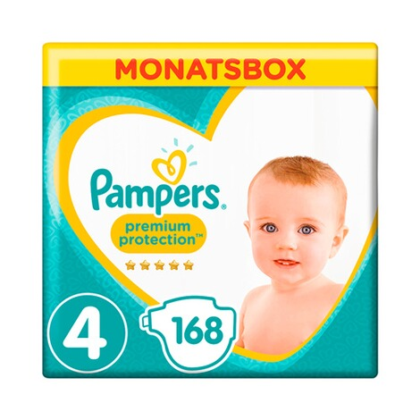 PAMPERS  Premium Protection Windeln Gr. 4 9-14 kg Monatsbox 168 St. 1