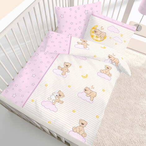 biber bettw sche teddy 40x60 100x135 cm online kaufen baby walz. Black Bedroom Furniture Sets. Home Design Ideas