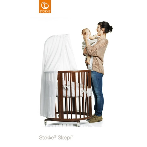 Stokke® SLEEPI™ Babybett mit Matratze Sleepi Mini (0 - 6 Monate)  Hazy Grey 3