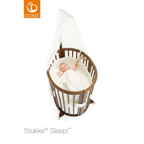 Stokke® SLEEPI™ Babybett mit Matratze Sleepi Mini (0 - 6 Monate)  Hazy Grey 2