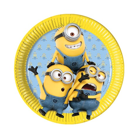MINIONS 8er-Pack Pappteller Minions 1
