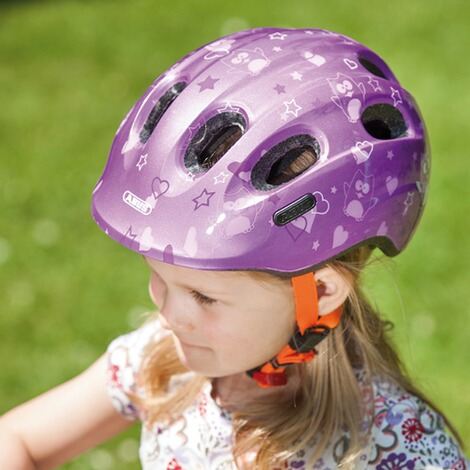 ABUS  Fahrradhelm Smiley 2.0  purple Star 4