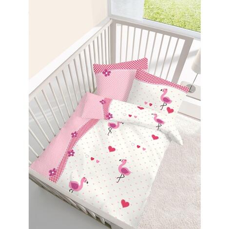 ido bettw sche flamingo 40x60 100x135 cm online kaufen baby walz. Black Bedroom Furniture Sets. Home Design Ideas