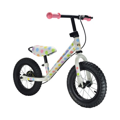 KIDDIMOTO  Laufrad Super Junior Max aus Metall  pastel dotty 1