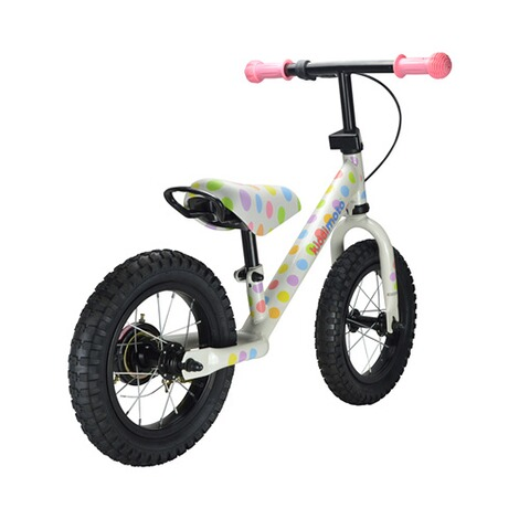 KIDDIMOTO  Laufrad Super Junior Max aus Metall  pastel dotty 3