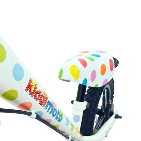 KIDDIMOTO  Laufrad Super Junior Max aus Metall  pastel dotty 4