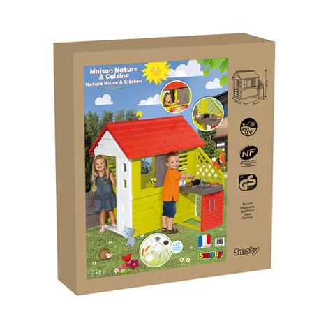 SMOBY Spielhaus Natur mit Sommerküche online kaufen | baby-walz