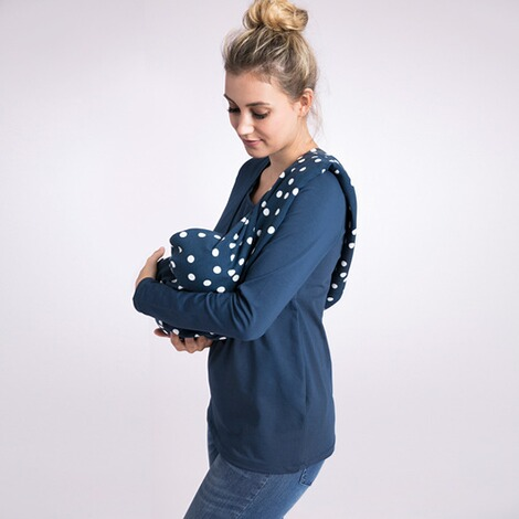 2HEARTS WE LOVE BASICS Still-Schal Dots  All Over Print Dots Blue 3