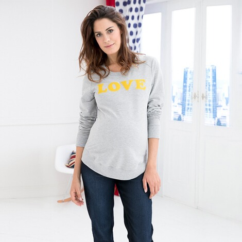2HEARTS  Umstands-Pullover LOVE 4