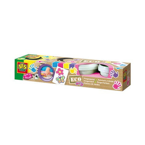 SES  4er-Pack Fingerfarbe Eco Girly 1
