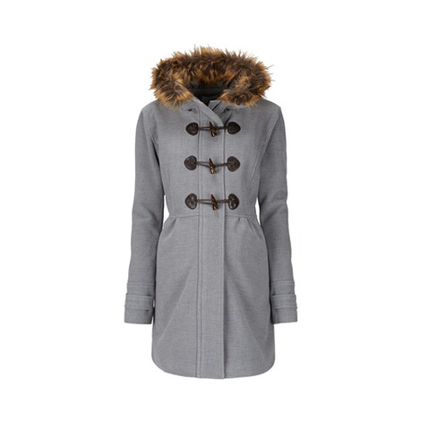 2hearts COSY & WILD Umstands-Mantel Romantic Duffle Coat mit Fake Fur 1