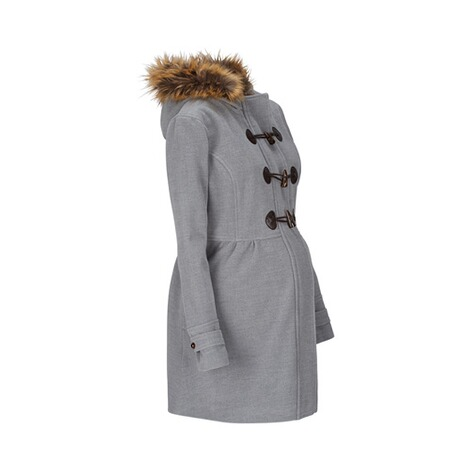 2hearts COSY & WILD Umstands-Mantel Romantic Duffle Coat mit Fake Fur 2
