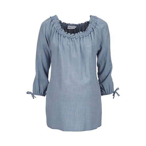 2HEARTS  Umstands- und Still-Bluse  denim blue 1