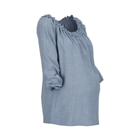 2HEARTS  Umstands- und Still-Bluse  denim blue 2